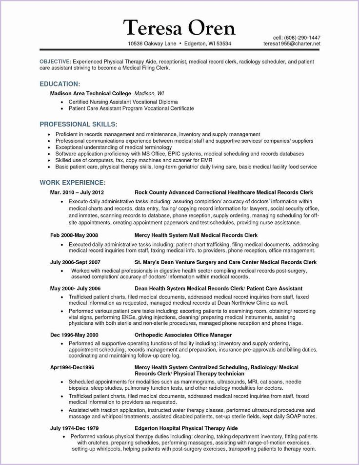 Patient care assistant by Deborah Iacono on resume