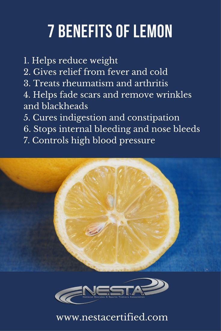 The health benefits of lemon are due to its many nourishing elements like vitamin C, vitamin B6, vitamin A, vitamin E, folate, niacin thiamin, riboflavin, pantothenic acid, copper, calcium, iron, magnesium, potassium, zinc, phosphorus and protein.