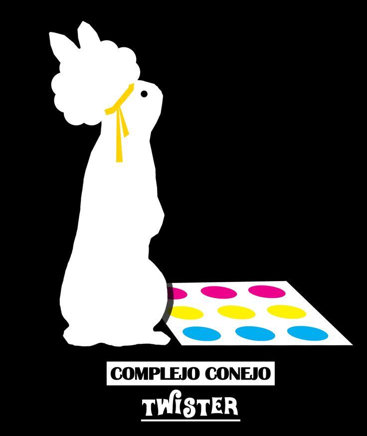 Afiche Logo Disconejos Complejo Conejo