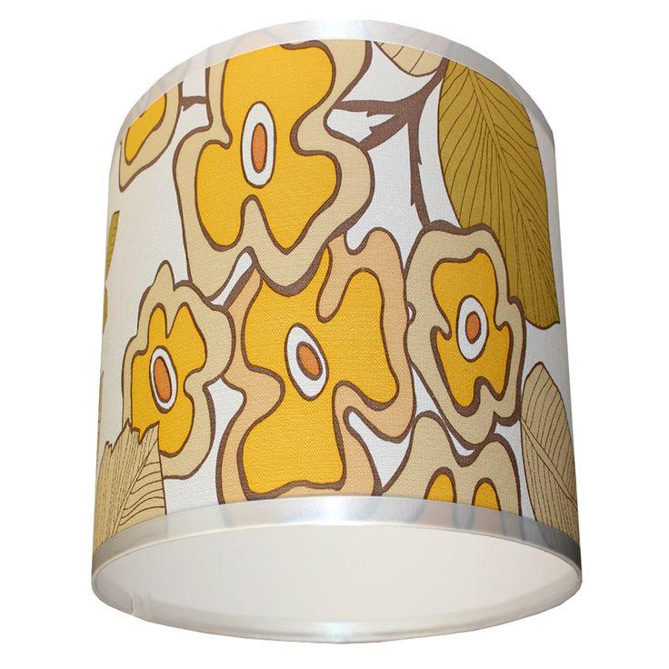 Vintage Daisy wallpaper lampshade