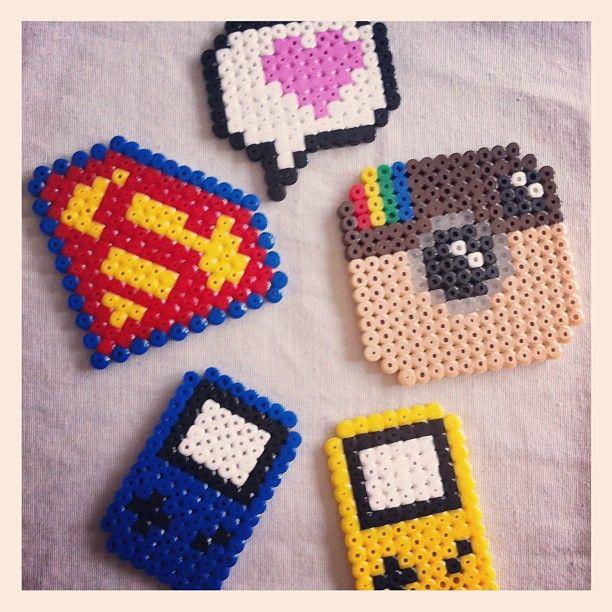Jessou On Instagram Hama Hamabeads Instagram Superman Nintendo Heart Kawaii Diy Perler Beads Hama Beads Hama Beads Design
