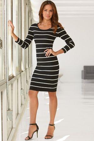 Thin stripe sweater dress #bostonproper #WhatsNewNow