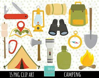 80% SALE CAMP clipart, camping clipart, commercial use, camping digital clipart, camping equipment/tent/camp fire, travel, cute clipart
