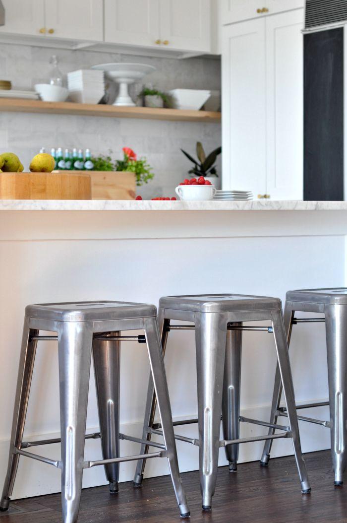 Galvanized Metal Kitchen Stools Tolix Kitchens Kitchen
