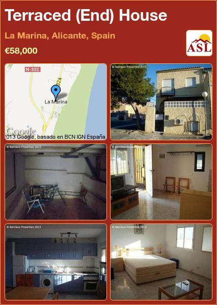 Terraced (End) House in La Marina, Alicante, Spain ►€58,000 #PropertyForSaleInSpain
