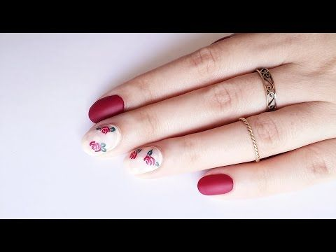 DIY Nail Art | Easy Floral Nail Design - YouTube