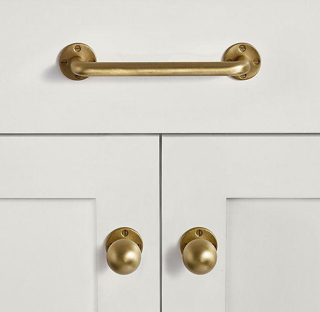 Chaillot Pull Brass Hardware Bathroom Brass Kitchen Hardware Unlacquered Brass Hardware