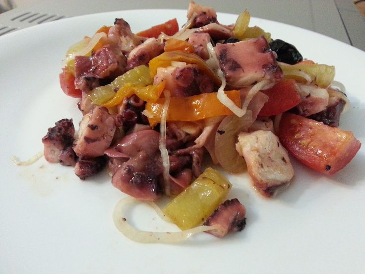 Polpo alla mediterranea dietetico - Powered by @ultimaterecipe
