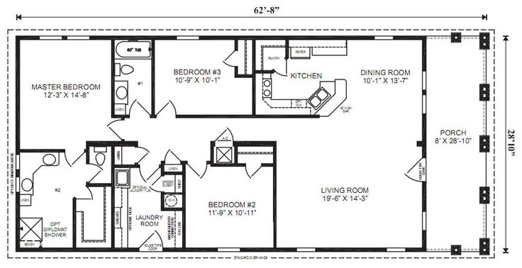 The Captiva Ii Modular Home 3 Bedrooms 2 Baths Square