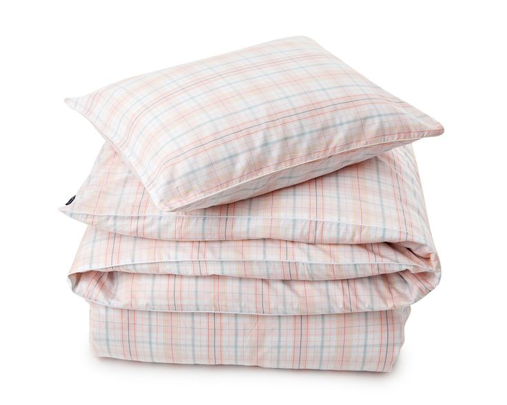 Lexington Poplin Checked Bedding coral Spring2016