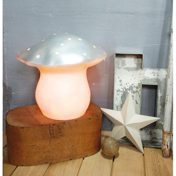 Lampe champignon argentée grand modèle - La Folle Adresse