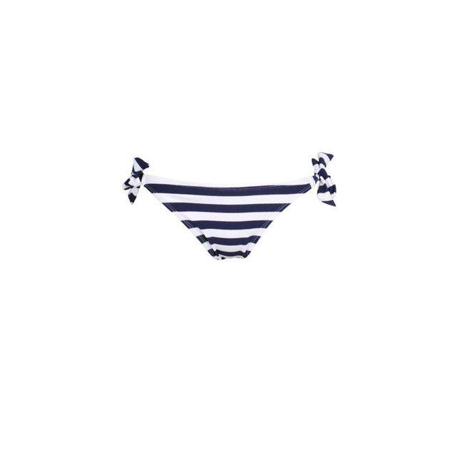 Mon Weenie Bikini Rayé Bleu Marine - Maillot de bain Culotte à noeuds (Bas) MONPETITBIKINI