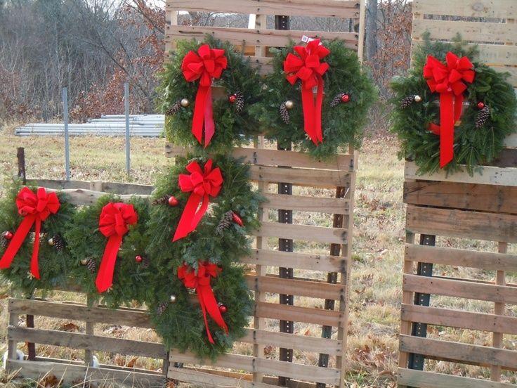 wreath display ideas   multiple wreath display