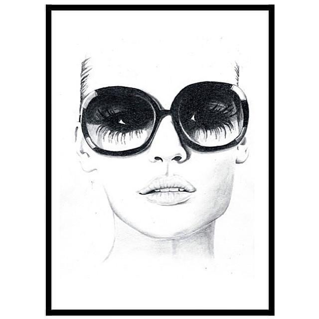 ASA WALLMARK DESIGN - 'SUNSHINE' HAND ILLUSTRATION ART PRINT