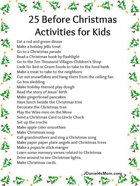 25 Before Christmas Activities for Kids