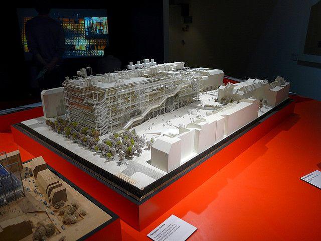 Pompidou Centre Model, Richard Rogers + Architects Exhibition, Design Museum