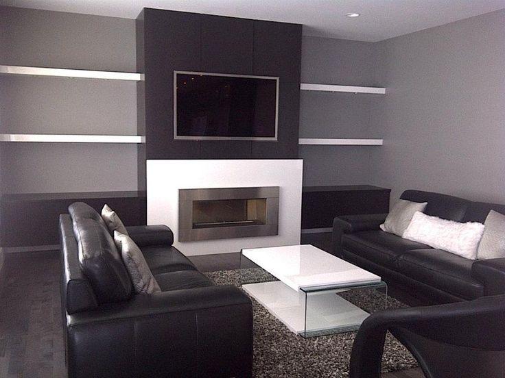 Wood Slat Modern Wall Fireplace Google Search Lareira