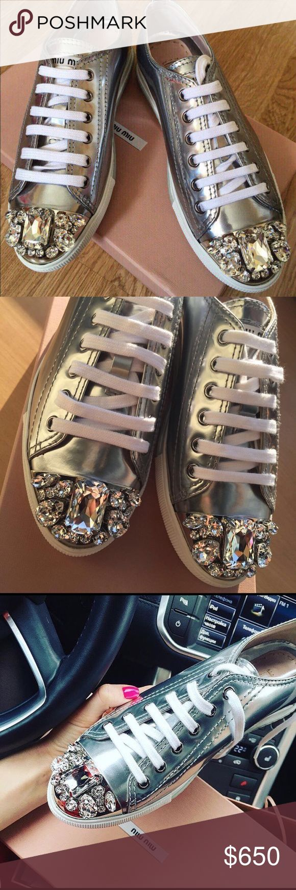 Miu miu sneakers Brand new with tags! 36.5 and 37.5 available Miu Miu Shoes Sneakers
