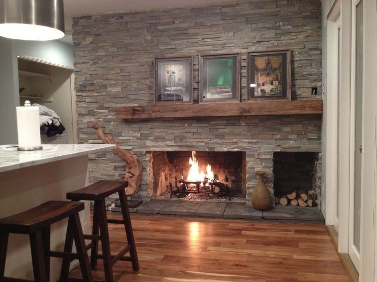 Dry Stacked Stone Fireplace (8) – The Urban Interior