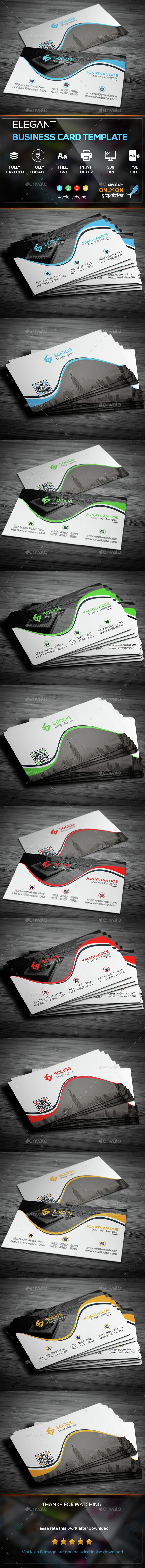 Elegant Business Card Template — Photoshop PSD #business card #black • Available here → https://graphicriver.net/item/elegant-business-card-template/15316087?ref=pxcr