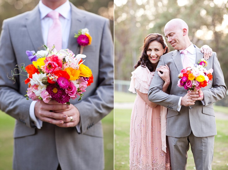 { emma + jeremy @ peppers ruffles willow vale } | Life in Bloom Photography & Green and BloomPhotos Inspiration, Photos Ideas, Pink Ties, Bloom Photography, Peppers Ruffles, Eye Catching, Gray Suits, Gorgeous Bouquets, Beautiful Bouquets