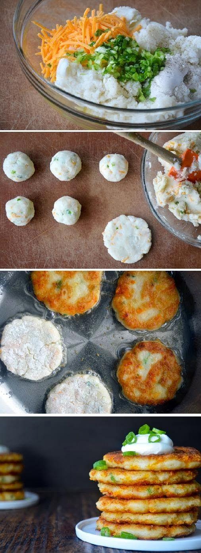 Food & juices: CHEESY MASHED POTATO PANCAKES