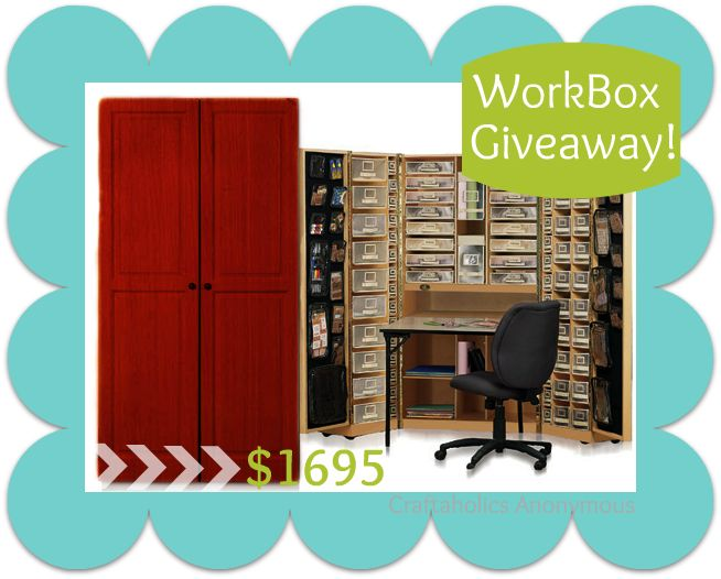 Enter to win a WorkBox made by The Original Scrapbox! valued at 1695$