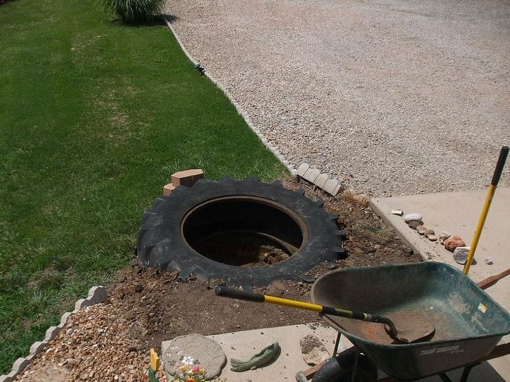 (10) Hometalk :: Our New Pond. old tractor tire turned into pond