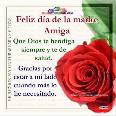 para mis amigas de czon ,feliz dia  Feliz día de la madre amiga