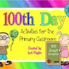 This file is jammed pack with adorable worksheets to make your 100th Day of school a real celebration. Your children will love the cute graphics an...