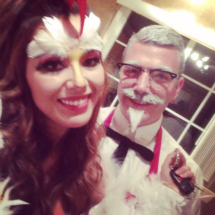 KFC costume - chicken and Colonel Sanders !