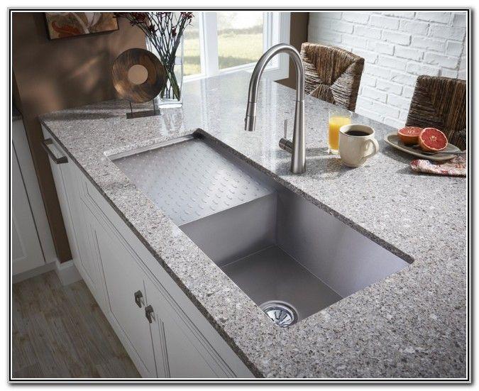 Undermount Stainless Steel Kitchen Sink With Drainboard - Kitchen ...
