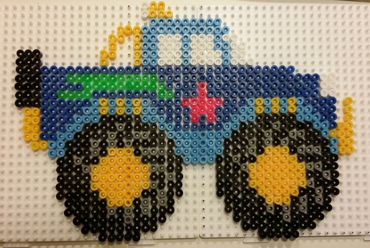 Monster Truck hama perler beads by Pia Petrea