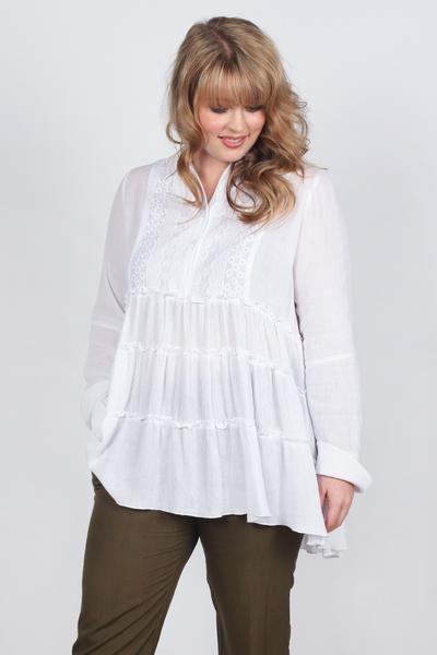 Waterfall Shirt in White