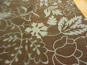 new dusty brown Teal Blue Outlined Leaves & Flowers  Fabric~SHOWER CURTAIN | eBay