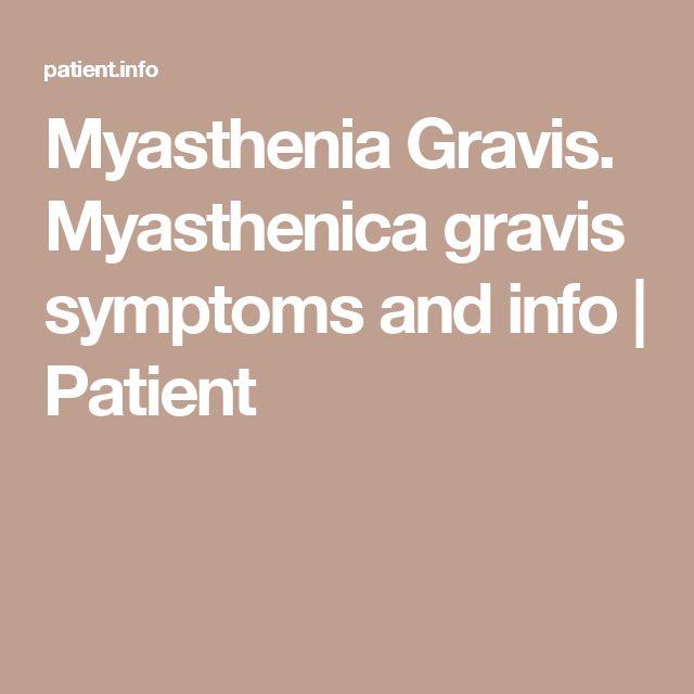 Myasthenia Gravis. Myasthenica gravis symptoms and info | Patient