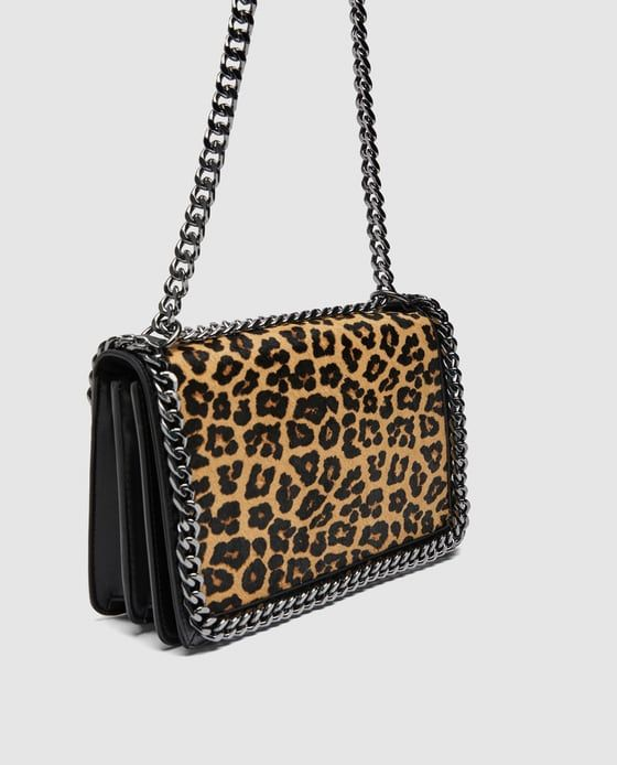 7ce9eea2f065 Image 3 of LEOPARD PRINT LEATHER CROSSBODY BAG from Zara | Editor ...