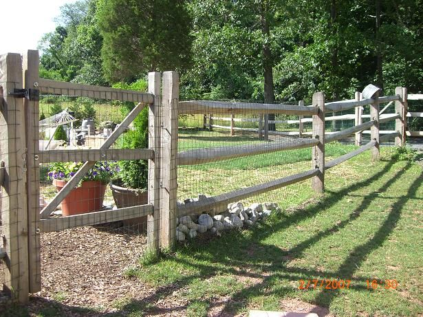 Post And Rail Wood For The Garden Designs Or