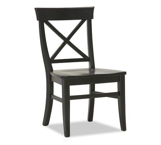 aaron side chair   black   pottery barn