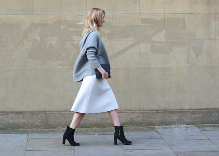 By Malene Birger skirt, Zara sweater, Yvonne Kone boots, Lomme bag