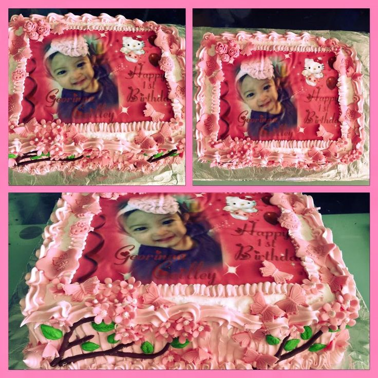 Birthday Cake with edible picture...