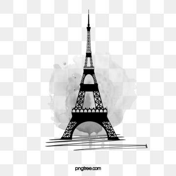 Black Tower Eiffel Tower Illustration Eiffel Tower Paris Illustration