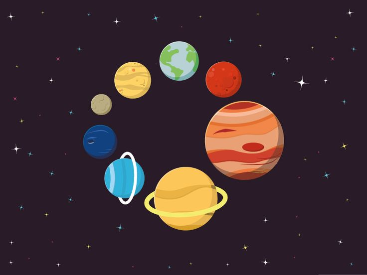 Flat Vector Planets by Christopher Jones