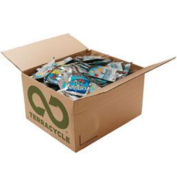 terracycle gives you free printable shipping labels to send in your waste, which they recycle into new items, and also gives you points for each item, which can be used toward donations towards one of their listed charities, or to any charitable group of your choice!