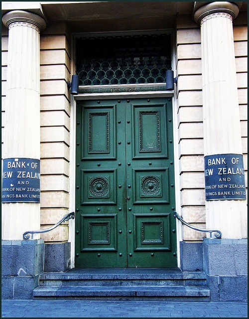 NZ - Auckland - Whenever I walk by this on Queen Street, I always think to myself how beautiful the building is, but I've never really noticed how amazing the doors are.