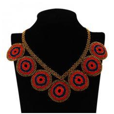 Collar Círculos Rojos