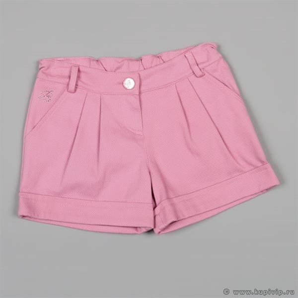 Розовые шорты со стразами