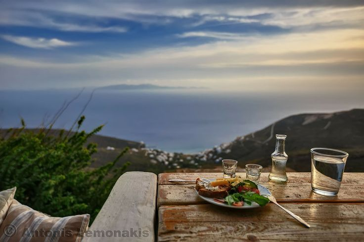 GREECE CHANNEL | A tsipouro drink with meze and great view to the Aegean, in Tino by Antonis Lemonakis on 500px
