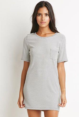 Ribbed Stripe T-Shirt Dress | Forever 21 | #thelatest