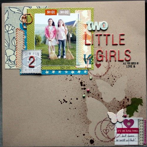 two little girls: Scrapbook Ideas, Scrapbook Inspiration, Creative Scrapbook, Scrapbook Layout, Scrapbook 12X12, Things Scrapbook